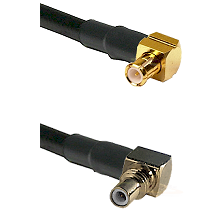 MCX Right Angle Male on RG316DS Double Shielded to SSMC Right Angle Male Cable Assembly
