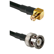 MCX Right Angle Male on RG58C/U to BNC Male Cable Assembly