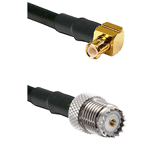MCX Right Angle Male on RG58 to Mini-UHF Female Cable Assembly