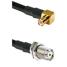 MCX Right Angle Male on RG58C/U to Mini-UHF Female Cable Assembly