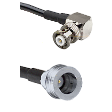 MHV Right Angle Male on LMR-195-UF UltraFlex to QN Male Cable Assembly