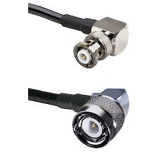 MHV Right Angle Male on LMR-195-UF UltraFlex to C Right Angle Male Cable Assembly