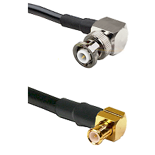 MHV Right Angle Male on LMR-195-UF UltraFlex to MCX Right Angle Male Cable Assembly