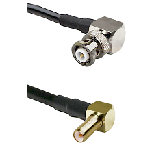 MHV Right Angle Male on LMR-195-UF UltraFlex to SLB Right Angle Male Cable Assembly