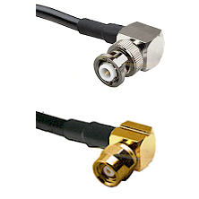 MHV Right Angle Male on LMR-195-UF UltraFlex to SMC Right Angle Female Cable Assembly
