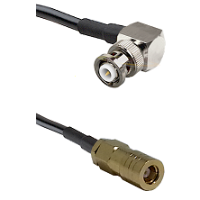 MHV Right Angle Male on LMR-195-UF UltraFlex to SLB Female Cable Assembly