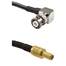 MHV Right Angle Male on LMR-195-UF UltraFlex to SLB Male Cable Assembly