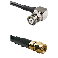 MHV Right Angle Male on LMR-195-UF UltraFlex to SMC Male Cable Assembly