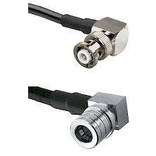 MHV Right Angle Male Connector On LMR-240UF UltraFlex To QMA Right Angle Male Connector Coaxial Cabl