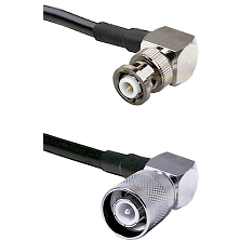 MHV Right Angle Male Connector On LMR-240UF UltraFlex To SC Right Angle Male Connector Coaxial Cable