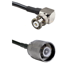 MHV Right Angle Male Connector On LMR-240UF UltraFlex To SC Male Connector Cable Assembly