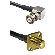 MHV Right Angle Male Connector On LMR-240UF UltraFlex To SMA 4 Hole Female Connector Coaxial Cable A