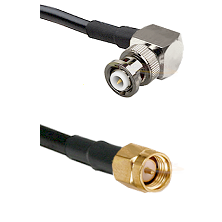 MHV Right Angle Male Connector On LMR-240UF UltraFlex To SMA Male Connector Cable Assembly