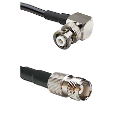 MHV Right Angle Male Connector On LMR-240UF UltraFlex To TNC Female Connector Cable Assembly
