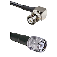MHV Right Angle Male Connector On LMR-240UF UltraFlex To TNC Male Connector Cable Assembly