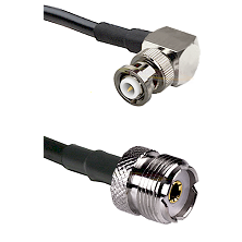 MHV Right Angle Male Connector On LMR-240UF UltraFlex To UHF Female Connector Cable Assembly