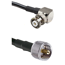 MHV Right Angle Male Connector On LMR-240UF UltraFlex To UHF Male Connector Cable Assembly
