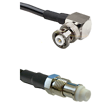 MHV Right Angle Male on RG142 to FME Female Cable Assembly