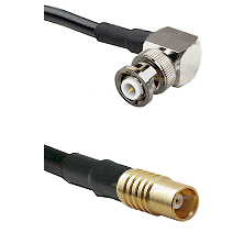 MHV Right Angle Male on RG142 to MCX Female Cable Assembly