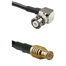 MHV Right Angle Male on RG142 to MCX Male Cable Assembly