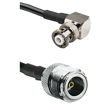 MHV Right Angle Male on RG400 to N Female Cable Assembly