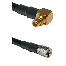 MMCX Right Angle Male on LMR100/U to 10/23 Male Cable Assembly