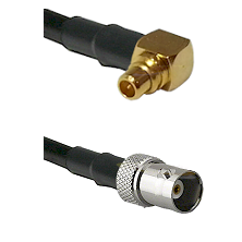 MMCX Right Angle Male on LMR100 to BNC Female Cable Assembly