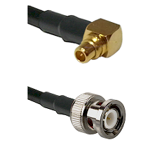 MMCX Right Angle Male on LMR100 to BNC Male Cable Assembly