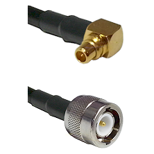 MMCX Right Angle Male on LMR100/U to C Male Cable Assembly