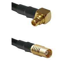 MMCX Right Angle Male on LMR100 to MCX Female Cable Assembly