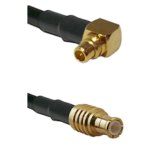 MMCX Right Angle Male on LMR100 to MCX Male Cable Assembly