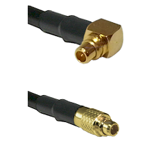 MMCX Right Angle Male on LMR100 to MMCX Male Cable Assembly