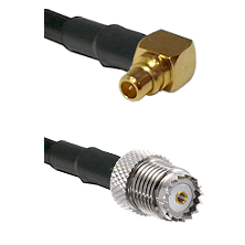 MMCX Right Angle Male on LMR100 to Mini-UHF Female Cable Assembly