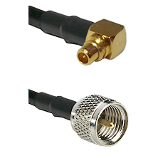 MMCX Right Angle Male on LMR100 to Mini-UHF Male Cable Assembly