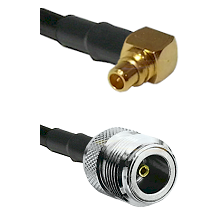 MMCX Right Angle Male on LMR100 to N Female Cable Assembly