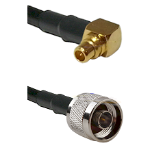 MMCX Right Angle Male on LMR100 to N Male Cable Assembly