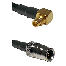 MMCX Right Angle Male on LMR100/U to QN Female Cable Assembly