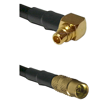 Right Angle MMCX Male To MMCX Female Connectors RG188 Cable Assembly
