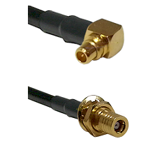 MMCX Right Angle Male on RG188 to SSLB Female Bulkhead Cable Assembly