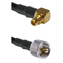 MMCX Right Angle Male on RG188 to UHF Male Cable Assembly