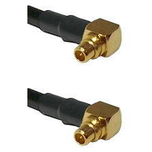 Right Angle MMCX Male To Right Angle MMCX Male Connectors RG58C/U Cable Assembly