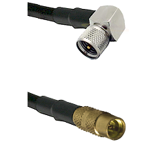 Mini-UHF Right Angle Male on LMR100 to MMCX Female Cable Assembly