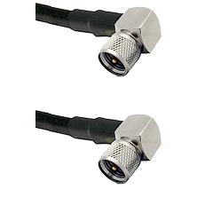 Mini-UHF Right Angle Male on LMR-195-UF UltraFlex to Mini-UHF Right Angle Male Coaxial Cable Assembl