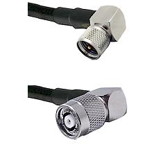 Mini-UHF Right Angle Male on LMR-195-UF UltraFlex to TNC Reverse Polarity Right Angle Male Coaxial C