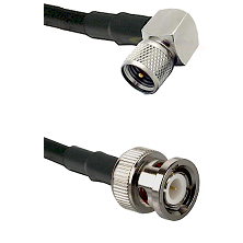 Mini-UHF Right Angle Male on LMR240 Ultra Flex to BNC Male Cable Assembly