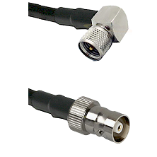 Mini-UHF Right Angle Male Connector On LMR-240UF UltraFlex To C Female Connector Coaxial Cable Assem