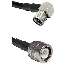Mini-UHF Right Angle Male Connector On LMR-240UF UltraFlex To C Male Connector Coaxial Cable Assembl