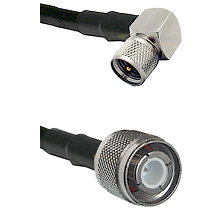 Mini-UHF Right Angle Male Connector On LMR-240UF UltraFlex To HN Male Connector Coaxial Cable Assemb