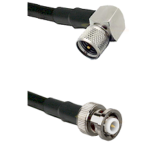 Mini-UHF Right Angle Male Connector On LMR-240UF UltraFlex To MHV Male Connector Coaxial Cable Assem