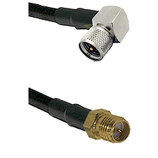 Mini-UHF Right Angle Male on LMR240 Ultra Flex to SMA Reverse Polarity Female Cable Assembly